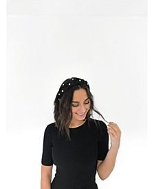 Catherine Imitation Pearl Satin Headband