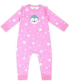 Organic Baby Girl 1-Piece Jean Coverall