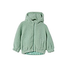 Toddler Girls Tallulah Teddy Hooded Jacket