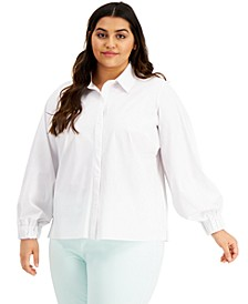 Plus Size Collared Shirt, Created for Macy's