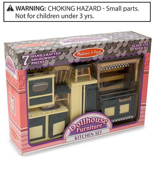 Kids Toy Dollhouse Furniture Kitchen Set