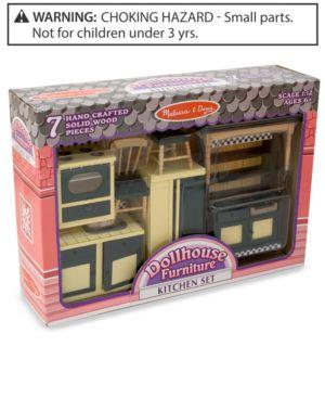 Melissa and Doug Kids' Toy Dollhouse Furniture Kitchen Set