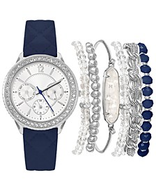 Women's Navy Strap Watch 36mm Gift Set