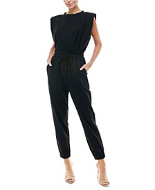 Cotton Muscle-Tee Knit Jumpsuit