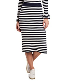 Perla Striped Sweater Midi Skirt, Created for Macy's