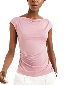 Cowl-Neck Peplum Blouse, Created for Macy's