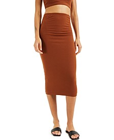 CULPOS X INC Ribbed Midi Skirt, Created for Macy's