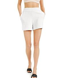 CULPOS x Fuzzy High-Rise Shorts, Created for Macy's