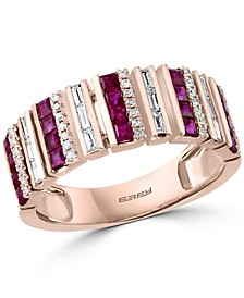 EFFY® Ruby (3/4 ct. t.w.) & Diamond (1/4 ct. t.w.) Ring in 14k Rose Gold