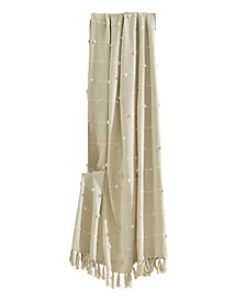 Boho Tufted Cotton Woven Tassel Fringe Throw Blanket