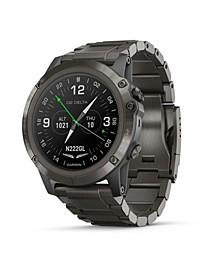 Unisex D2 Delta Premium GPS Aviator Gray Bracelet Watch 42mm