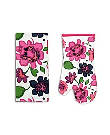 Kate Spade Floral Kitchen Towel & Oven Mitt 2-Pc. Set