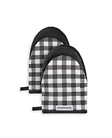 Gingham 2-Pc. Mini Oven Mitt Set