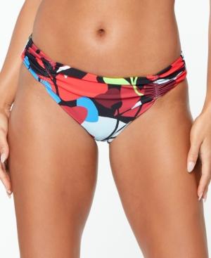 Shirred-Side Hipster Bikini Bottoms