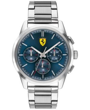 Men's Chronograph Grand Tour Stainless Steel Bracelet Watch 44mm