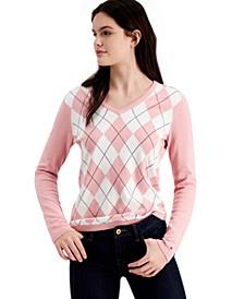 Cotton Argyle Ivy Sweater