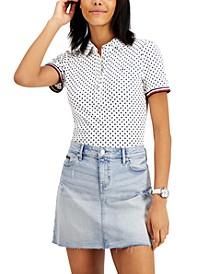 Cotton Dot-Print Polo