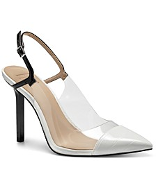 INC Keelie Slingback Clear Vinyl Pumps, Created for Macy's