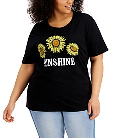 Plus Size Sunshine Graphic T-Shirt