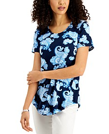Petite Layla Printed Top, Created for Macy's