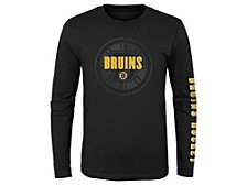 Youth Boston Bruins Maze Long-Sleeve T-Shirt