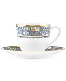 Autumn Espresso Cup and Saucer Set