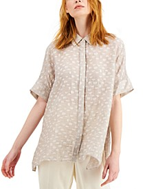 Textured Button-Front Top, Created for Macy's