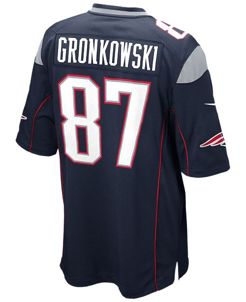 56c202b6aea Nike Men's Rob Gronkowski New England Patriots Game Jersey & Reviews ...