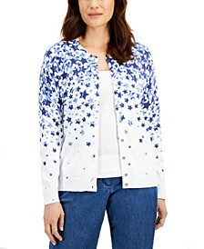 Star-Print Cardigan, Created for Macy's