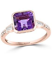EFFY® Amethyst (2-3/8 ct. t.w.) & Diamond (1/8 ct. t.w.) Ring in 14k Rose Gold