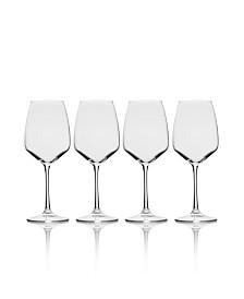 Melody White Wine Glass Set of 4, 15 oz