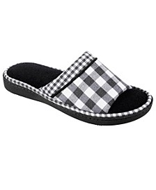 Isotoner Women's Wanda Gingham Slide Slippers
