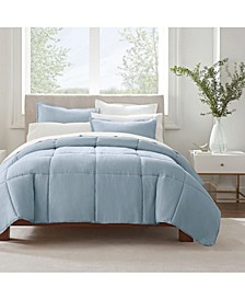 Simply Clean Microbe Resistant Full and Queen Comforter Set, 3 Piece