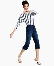 Petite Curvy-Fit Capri Jeans, Created for Macy's