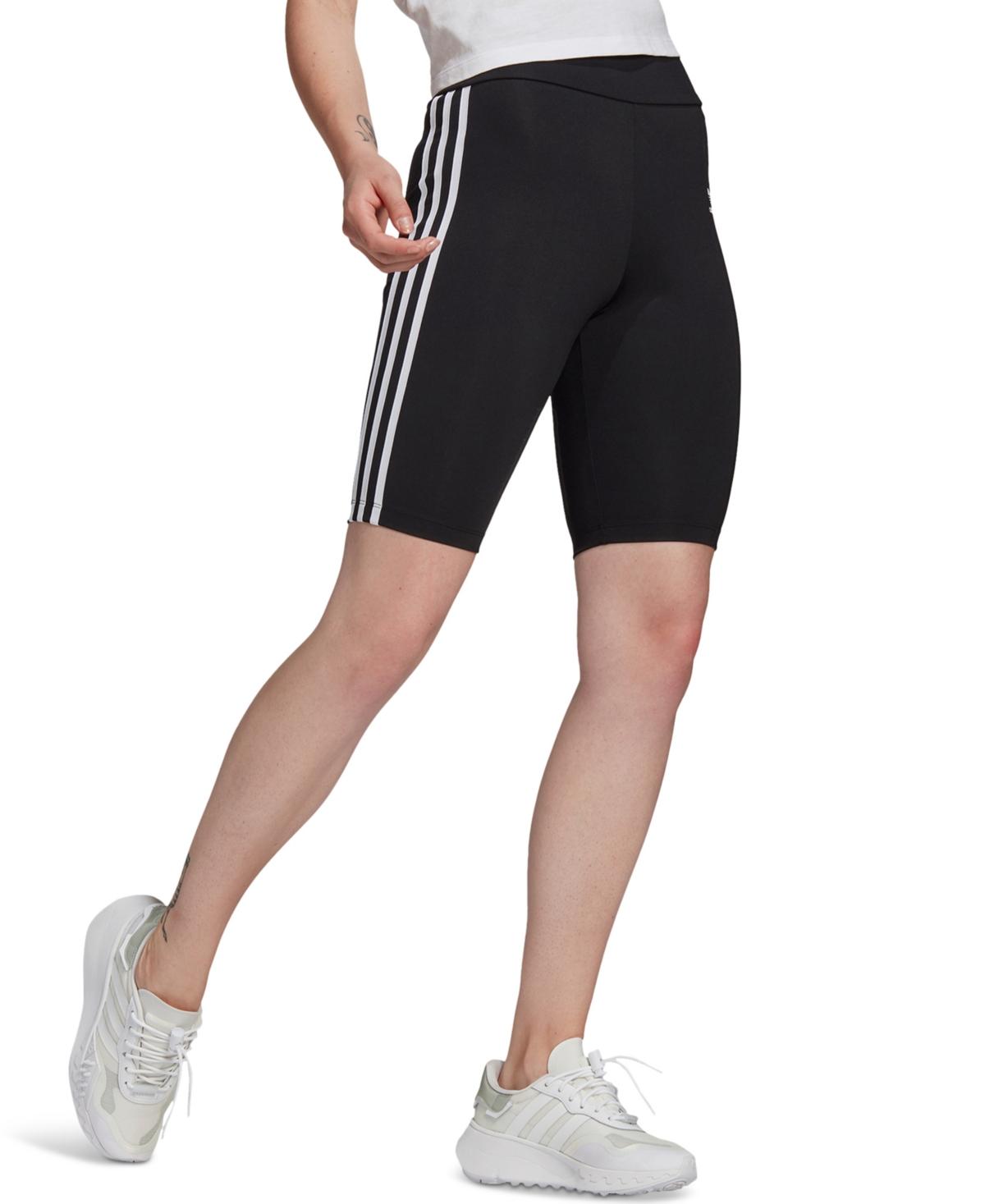 adidas Originals Women's High-Waisted Biker Shorts PrimeBlue