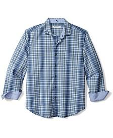 Men's Lazlo Plaid Silk Shirt