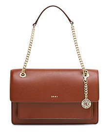 Bryant Large Chain Leather Flap Crossbody