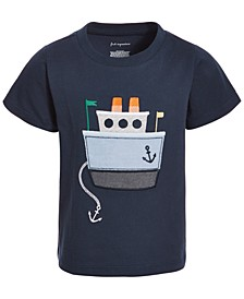 Baby Boys Chambray Boat Cotton T-Shirt, Created for Macy's