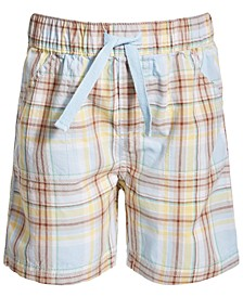 Toddler Boys Easter Plaid Cotton Shorts, Created for Macy's