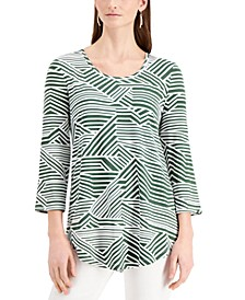 Geometric Striped Top, Created for Macy's
