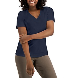 Cotton V-Neck Top, Created for Macy's