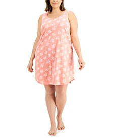 Plus Size Cotton Sleeveless Nightgown, Created for Macy's