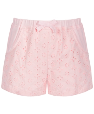 First Impressions Cottons BABY GIRLS EYELET KNIT COTTON SHORTS, CREATED FOR MACY'S