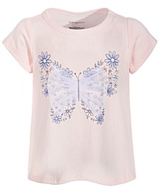 Toddler Girls Flower Butterfly Cotton T-Shirt, Created for Macy's