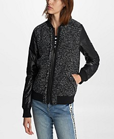 Women's Tweed Bomber Jacket