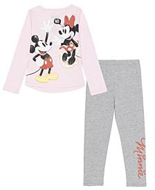 Little Girls Minnie 2 Piece Legging Set