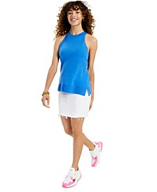 Cashmere Sleeveless Solid Halter Top, Created for Macy's