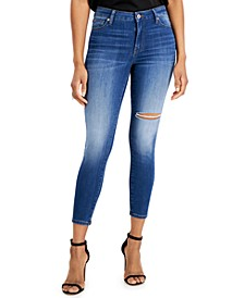 Juniors' Curvy Skinny Ankle Jeans