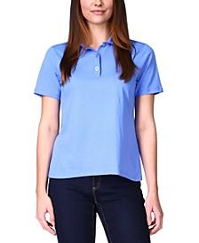Snap-Button Polo Shirt