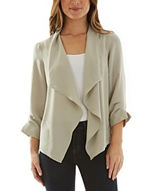 Juniors' Open Front 3/4-Sleeve Jacket